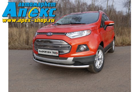 Защита передняя нижняя 60,3 мм (Ford EcoSport 2014-) Арт.FORECOSPOR14-02